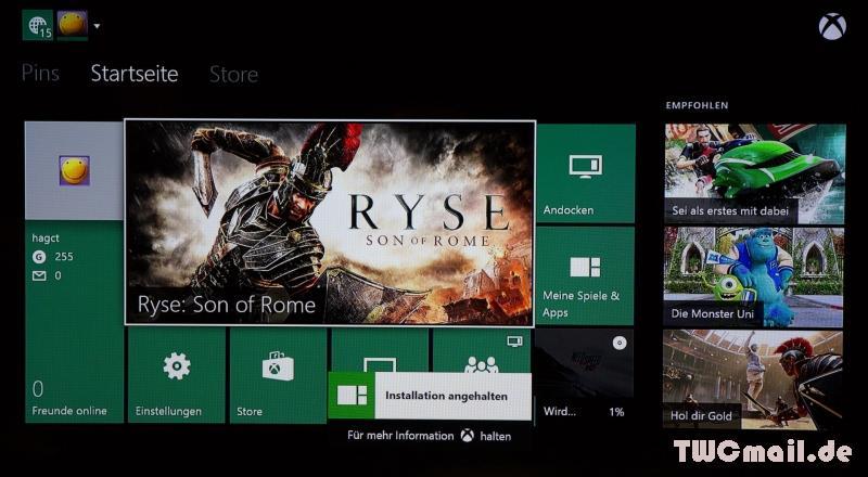 Xbox One Homescreen