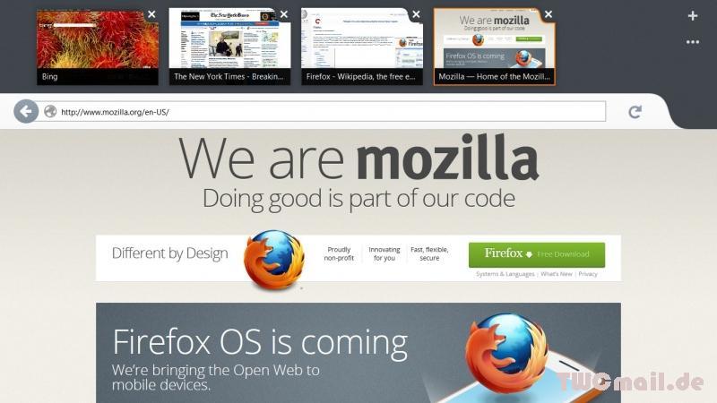Mozilla Firefox for Modern UI