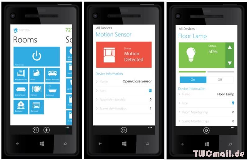 Insteon App für Windows Phone