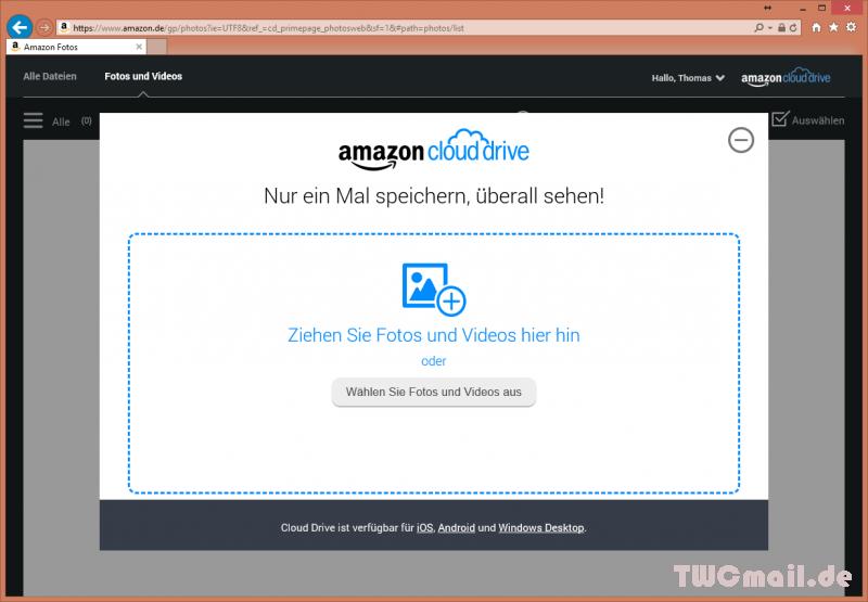 Amazon Cloud mit Prime Photos