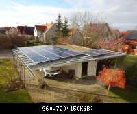 Carport mit Photovoltaik