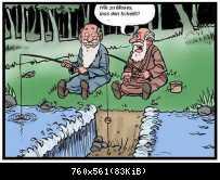 Moses beim Angeln
