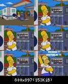 Homer Simpson beim Tanken